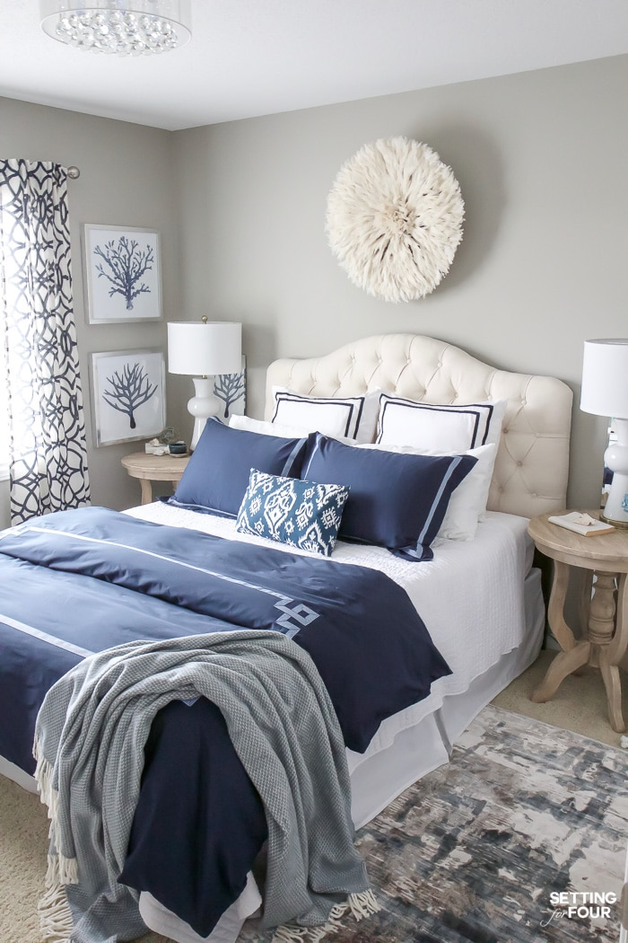 New Bedroom Updates - Juju Hat Wall Decor, Duvet Cover and ... on Bedroom Wall Decor  id=96531