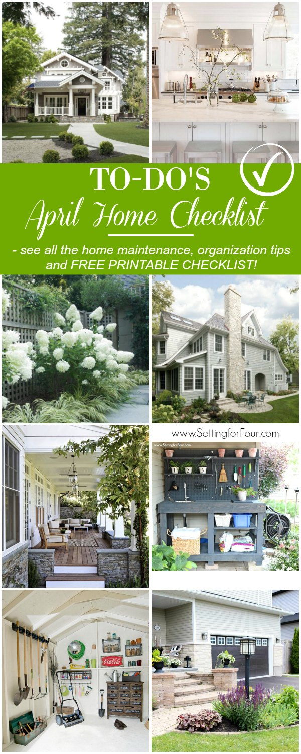 April Home Checklist Home Improvement Tips Setting For Four