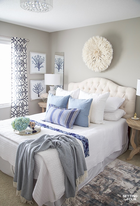 7 Simple Summer Bedroom Decorating Ideas - Setting for Four on Room Decor Ideas  id=93005
