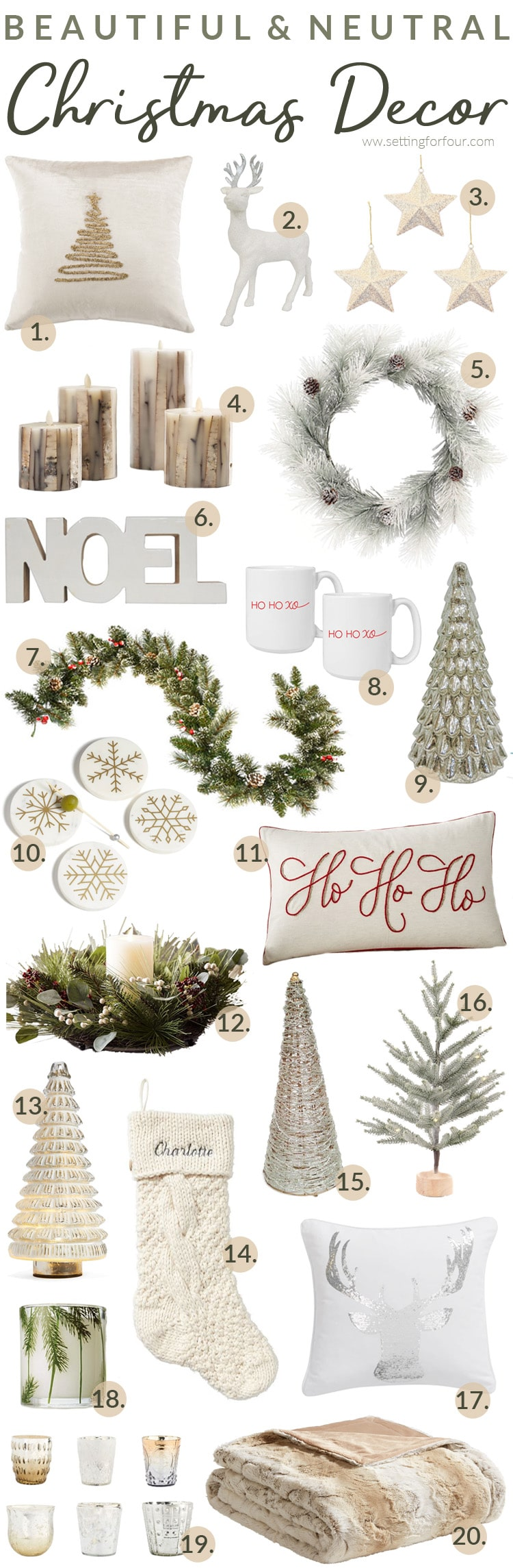 Beautiful Neutral Christmas Decor Ideas For The Home