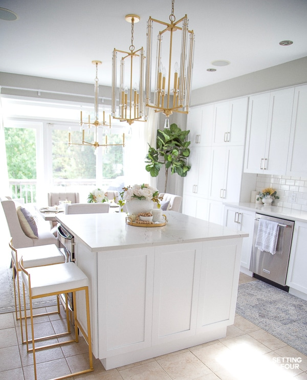 Fall Kitchen Decor Ideas - Kitchen Island, Countertops and ... on How To Decorate A Kitchen Counter  id=80996