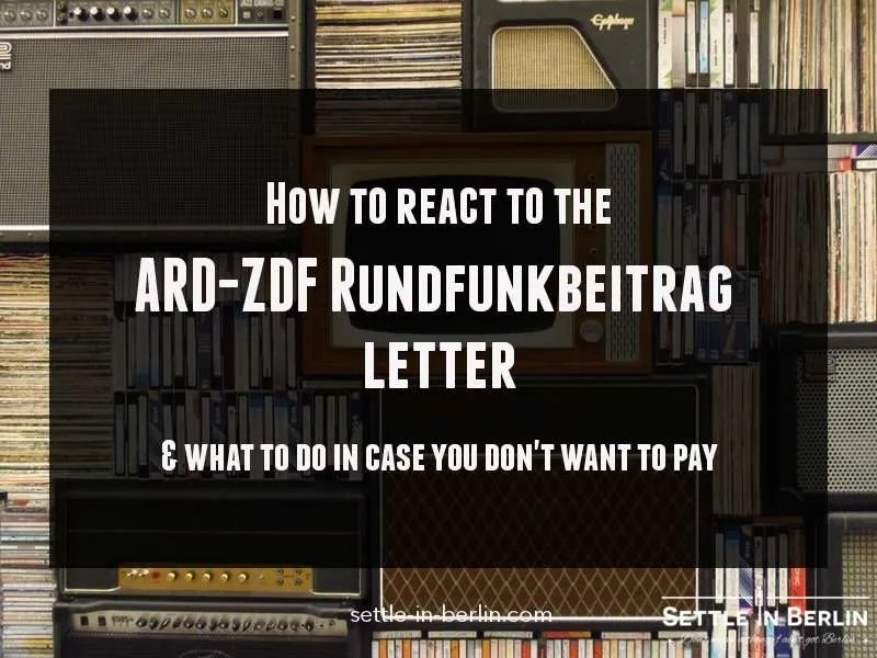 German Tv Tax What To Do About The Rundfunkbeitrag Letter