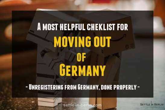 moving out of Germany checklist