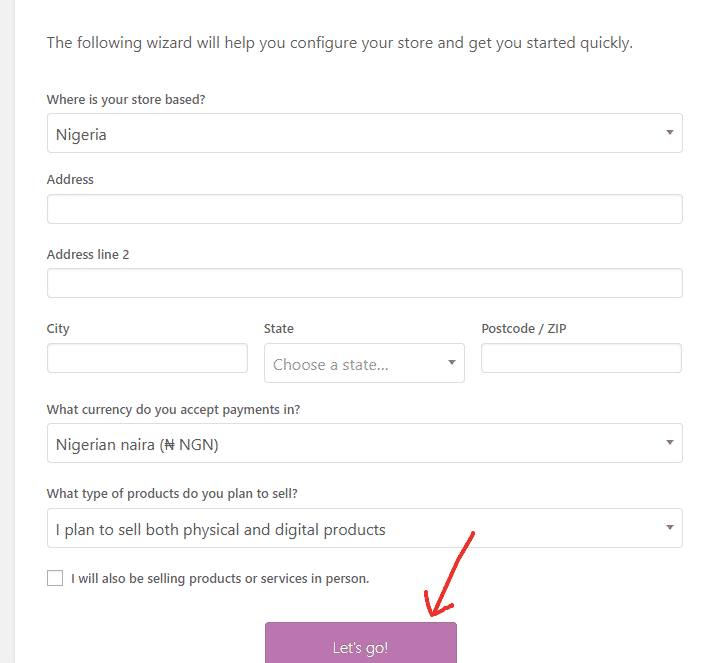 Configure your woocommerce store