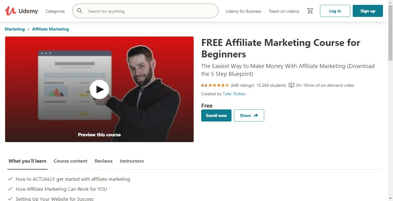 (Free Course) Free Affiliate Marketing Course for Beginners