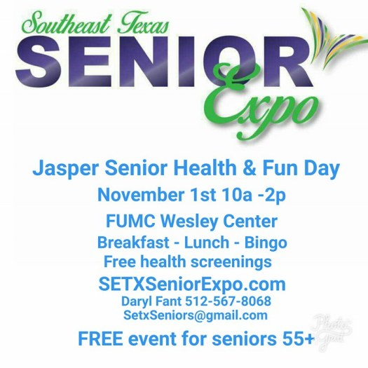 Senior expo Jasper TX, Jasper Senior Expo, Health Fair Jasper TX, senior event Jasper TX, senior health Jasper TX, health screening Jasper TX,