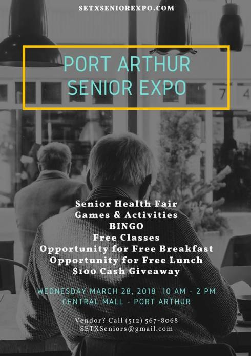 Senior Expo Port Arthur TX, Senior Events Beaumont, Beaumont Senior Expo, Senior Expo Orange TX, senior events Vidor, Senior Expo Lumberton, Senior Expo Jasper TX