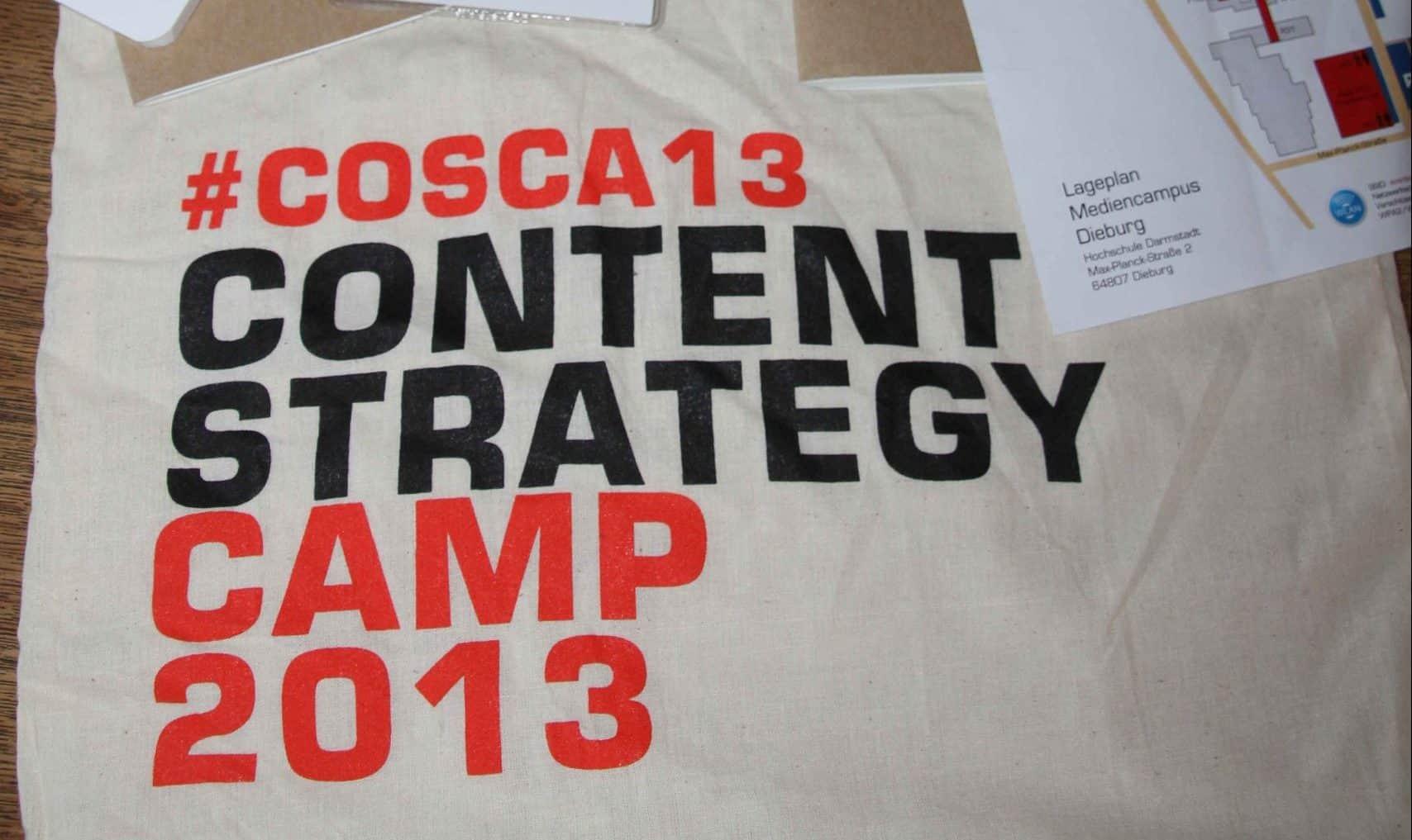 #cosca13: Content Strategy Camp in Darmstadt-Dieburg