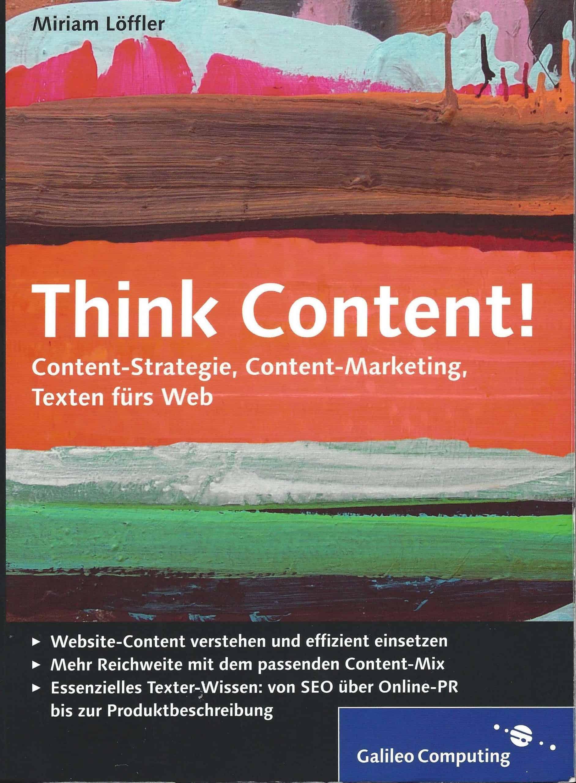 Rezension: Think Content! von Miriam Löffler