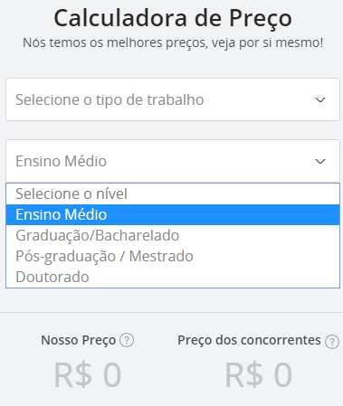 calculadora Studybay Brasil