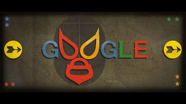 El Santo con 'doodle' e historieta en google