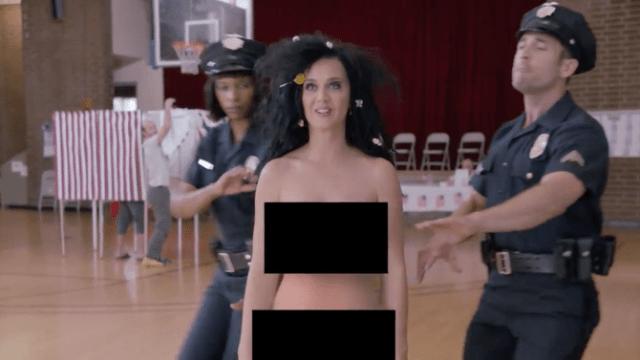 Katy Perry desnuda en apoyo a Hillary Clinton [VIDEO]