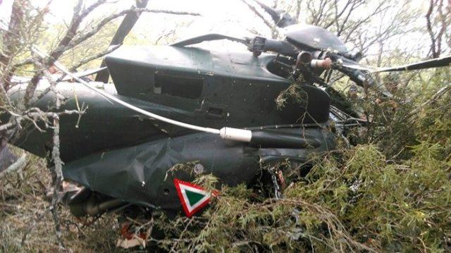 Tres heridos tras la caída de un helicóptero en Tamaulipas