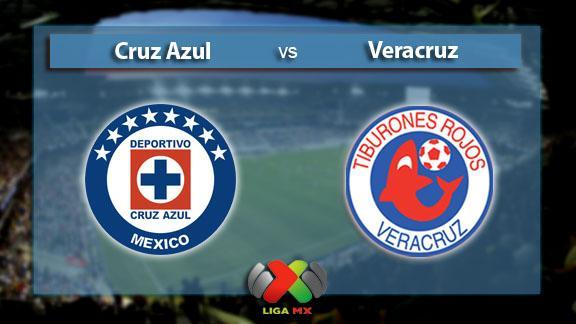 Cruz Azul derrotar a Veracruz por goliza a 5-3
