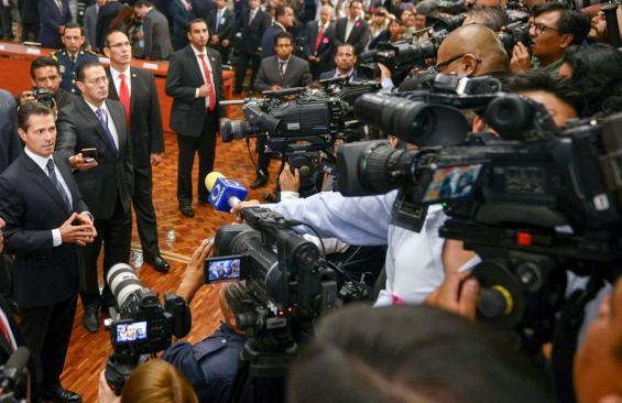 Revisan exhaustivamente a medios en evento de Peña Nieto