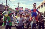 Día de protestas ante la llegada de @EPN a Mexicali BC