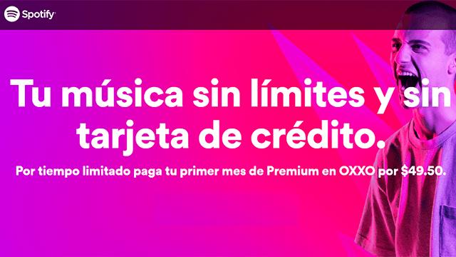 Imagen promocional de Spotify por su acuerdo con oxxo