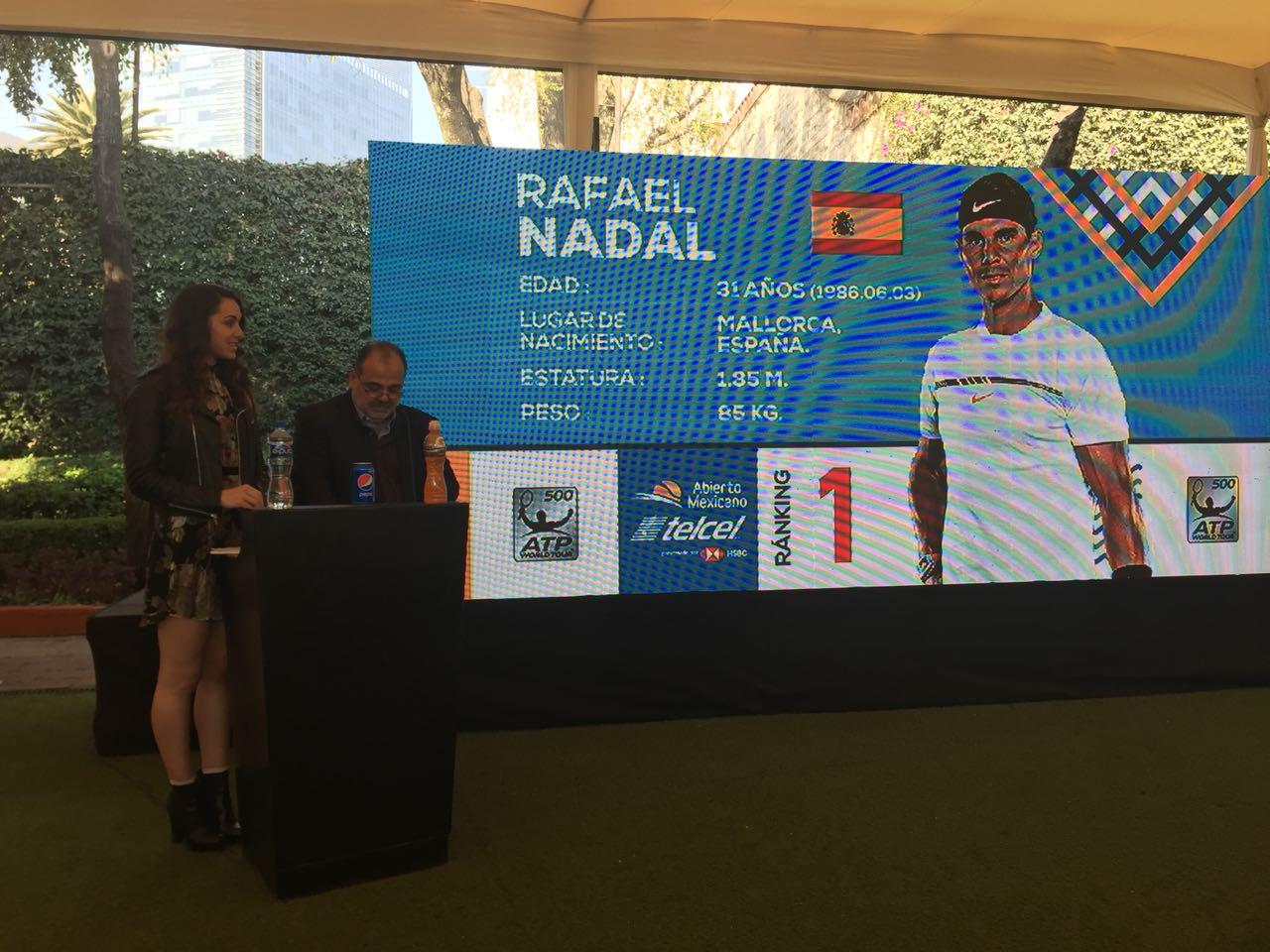 Rafael Nadal confirmado abierto mexicano de Acapulco