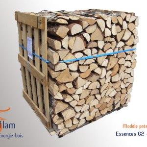 Bois bûche 1er choix Quartier de Mi-saison (essences G2) – 50 cm