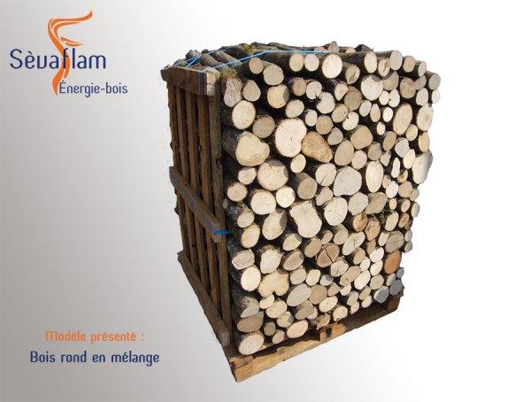 Bois de chauffage - Bois rond palette 1,5 stères | Sèvaflam