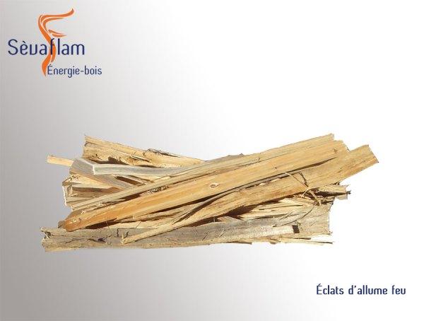 Carton d'éclats allume feu 35 dm3 | Sèvaflam - Bois de chauffage et allumage