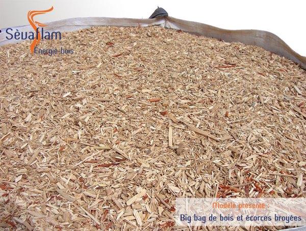 Big bag écorce et bois broyé pour paillage 1m3 | Sèvaflam - Bois de chauffage sur palette