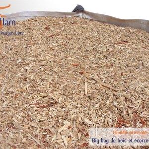 Big bag d'écorce et de bois broyé (paillage) – 1m3