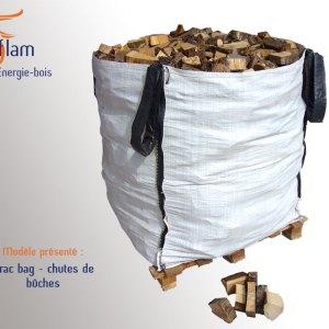 Vrac bag – Chutes de bûches de dimension inférieure à 20 cm (essence G1) – 1m³