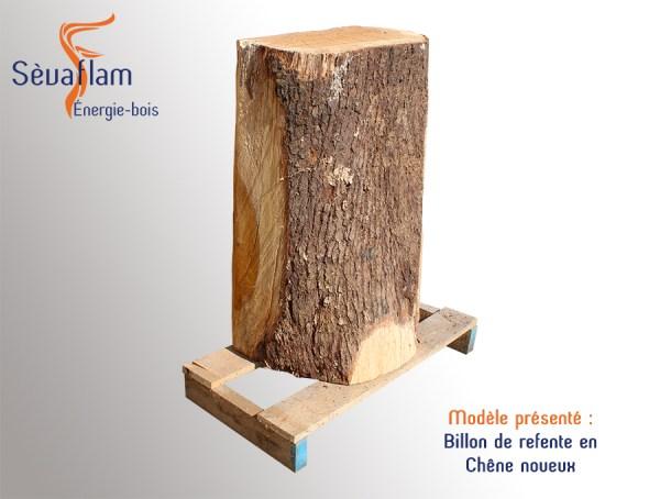 Billon de refente en chêne noueux | Sèvaflam - Bois de chauffage sur palette