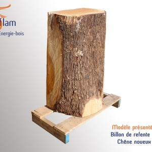 Billon de refente de bois bûche – Chêne noueux