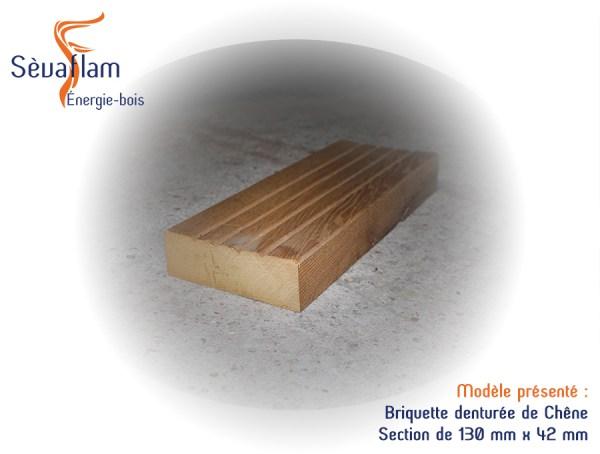 Parement bois sol mur - Briquette denturée en Chêne - Bois d'ébénisterie - menuiserie - construction - Sèvaflam Énergie bois
