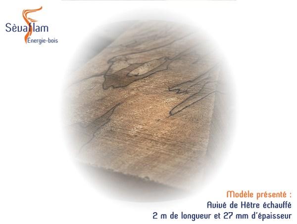 Avivés brut en Hêtre échauffé - Bois d'ébénisterie - menuiserie - construction - Sèvaflam Énergie bois