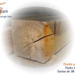 Poutre en Chêne - Bois d'ébénisterie - menuiserie - construction - Sèvaflam Énergie bois