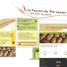 Création et déclinaison graphique pour Le Fournil du Pré Lacour