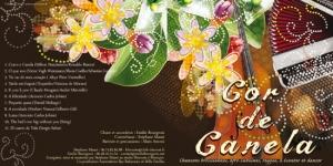 Pochette de cd cartonnée pour le groupe Cor de Canela