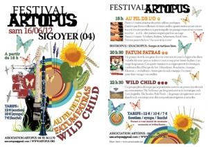 Flyer Festival Artopus 2012