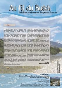 Livret 12 pages A4 pour le SMIGIBA syndicat de rivière du Buech