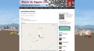 Mairie de Sigoyer (04), Alpes de Haute Provence.