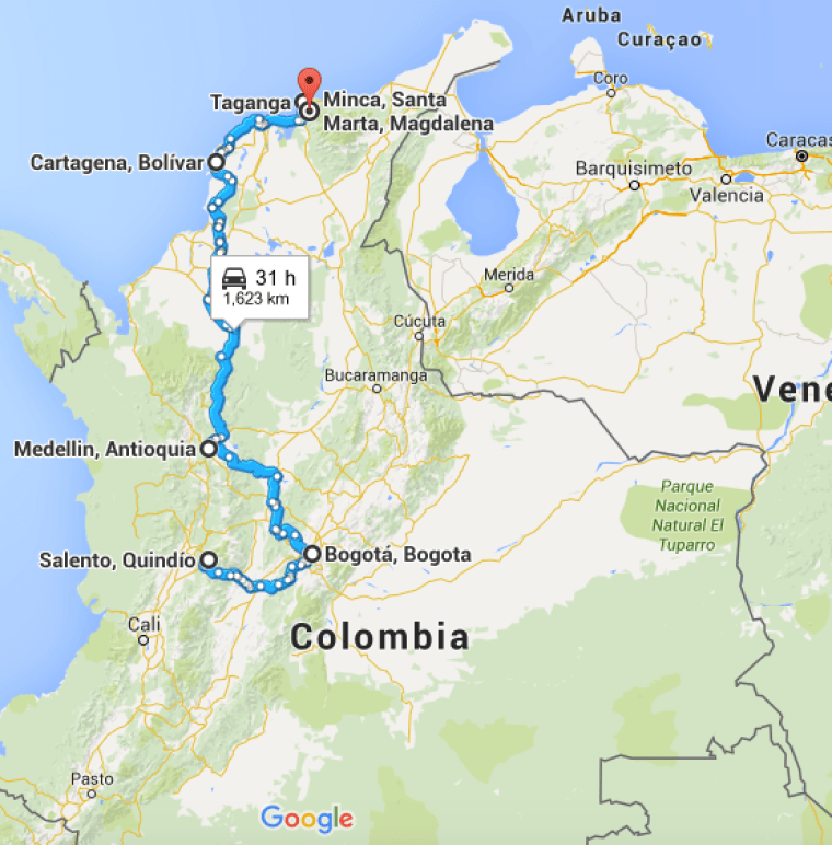 The Gringo Trail of Colombia!