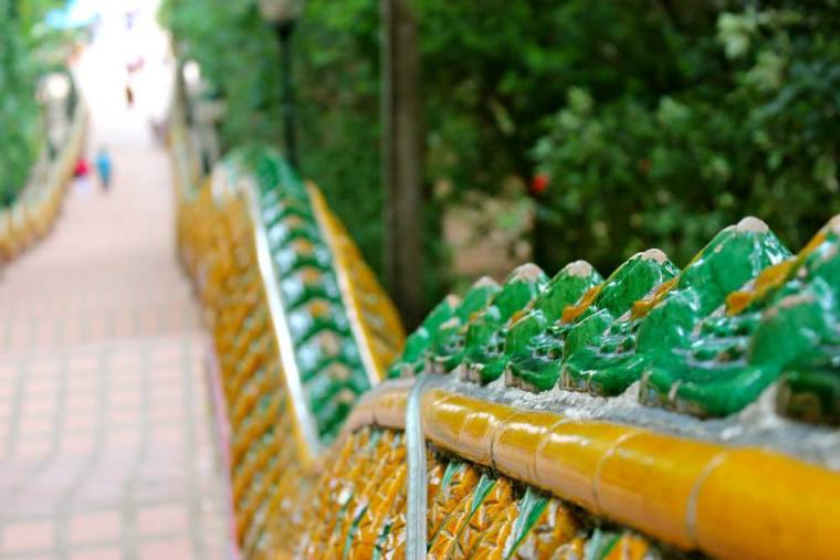 Stairs of Wat Phra That Doi in Chiang Mai, Thailand