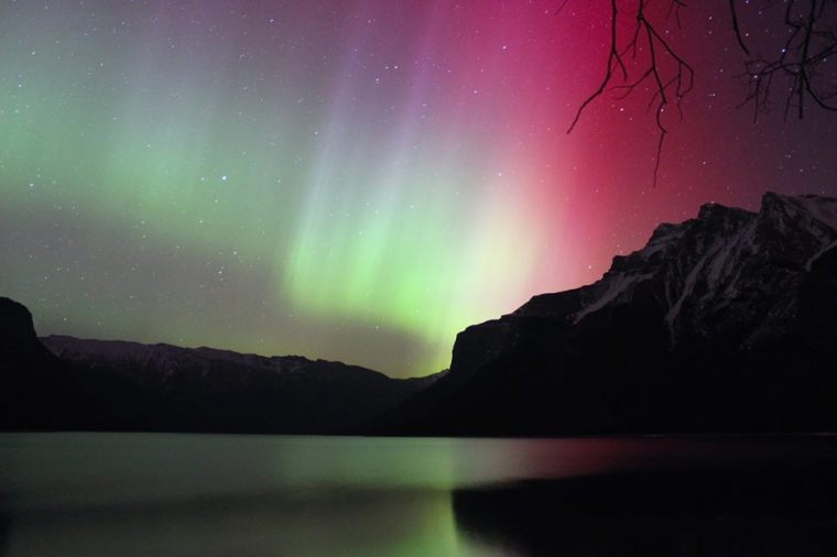 Northern Lights at Lake Minnewanka, Banff. 15 Highlights from 2015!