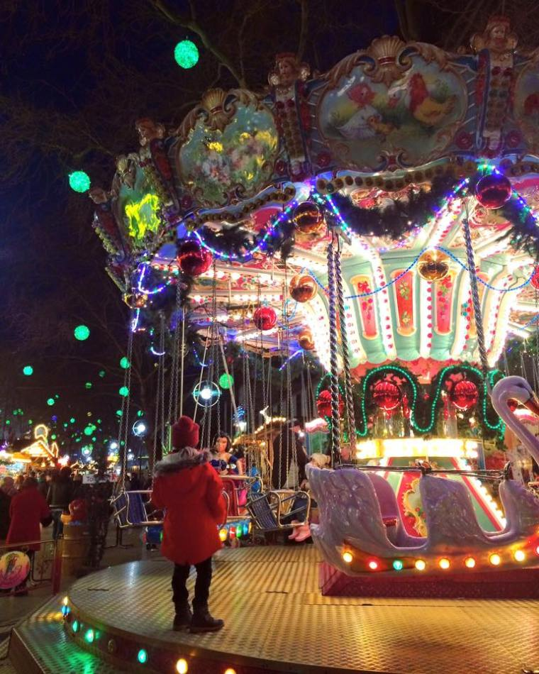 A girl at a ride at Dortmund Christmas Markets, germany. 15 Highlights from 2015!