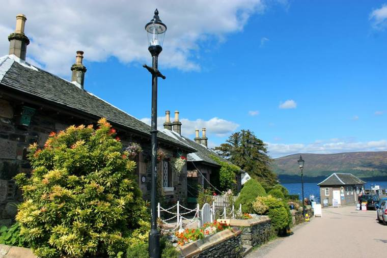 The beautiful town of Luss in Loch Lomond, Scotland