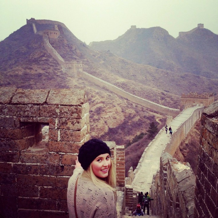 Seven Continents Sasha at the Great Wall of China, Beijing. Jinshanling Section.