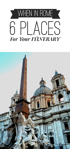 When In Rome: 6 Places For Your Itinerary! SEVEN CONTINENTS SASHA: http://wp.me/p4WPEu-pm