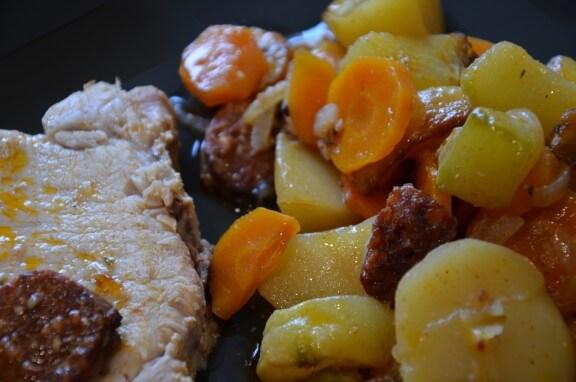 roti de porc a la portugaise