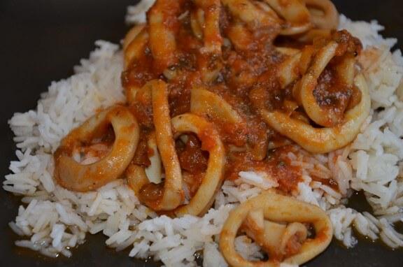 encornets sauce escabèche
