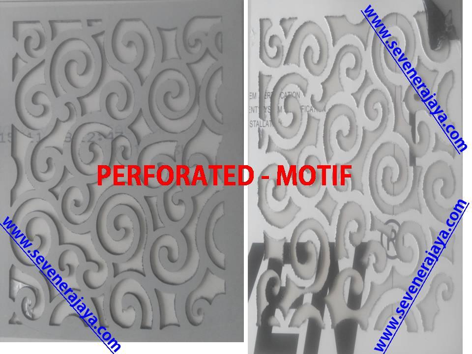 Harga jual seven aluminium composite panel perforated tekuk dan bending