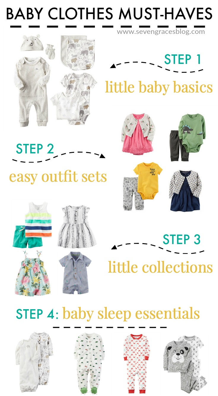 The ultimate guide to baby clothes for your baby's first year. What you really need and how much.