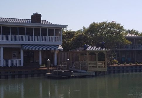 Timmons Vinyl Bulkhead, Floating Dock, Boathouse Dock with Roof